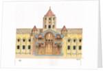 Santiago de Compostela Romanesque Cathedral.Cross section. Spain by Fernando Aznar Cenamor