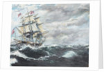 USS Constitution heads for HM Frigate Guerriere by Vincent Alexander Booth