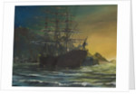 Clipper ship in port 1860s by Vincent Alexander Booth