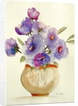 Purple Anemones in a vase by Neela Pushparaj