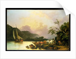 Belle Isle, Windermere, in a Calm, 1786 by Philip James de Loutherbourg