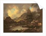 Castle Crag Borrowdale by Julius Caesar Ibbetson
