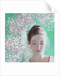 Portrait of a girl blossoming by Helen White
