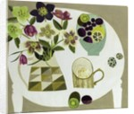 Hellebores and Miranda's Cup by Vanessa Bowman