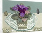 African Violets and Birds egg by Vanessa Bowman