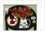 Anemones and Geometric Jug by Vanessa Bowman