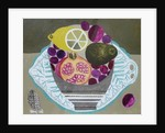 Fruitbowl on Fern Plate by Vanessa Bowman