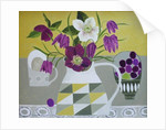 Hellebores and Fritilliaries by Vanessa Bowman