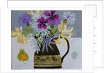 Garden Flowers in Stoneware jug by Vanessa Bowman