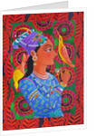 Maharani with two birds by Jane Tattersfield