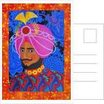 Maharaja with Pink Turban by Jane Tattersfield