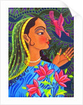 Maharani with magenta bird by Jane Tattersfield