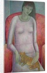 Woman with Cat by Ruth Addinall