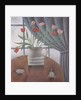 Tulips, Curtain, Cups by Ruth Addinall