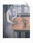 Woman with Small Cup by Ruth Addinall
