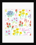 Floral Garden - Thank You by Jo Chambers