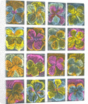 Electric pansies by Mary Kuper