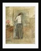 A Woman Undressing by Jean Louis Forain