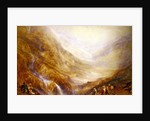 Descent of Mount St. Gothard by Joseph Mallord William Turner