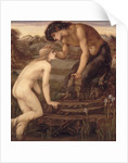 Pan and Psyche, 1870s by Edward Coley Burne-Jones
