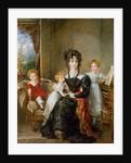 Portrait of Elizabeth Lea and her Children, c.1828 by John Constable