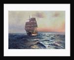 Sailing Ship at Sea, c.1910 by Alfred Serenius Jensen