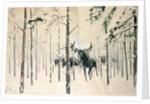 Moose, 1920 by Julian Falat