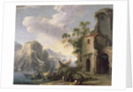 View of a Bay by Salvator Rosa