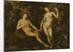 Adam and Eve in the Garden of Eden, c.1590-1610 by School Dutch