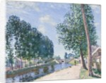 The Loing Canal at Moiret, c.1892 by Alfred Sisley