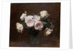 Still Life: pink, white and yellow Roses, 1894 by Ignace Henri Jean Fantin-Latour