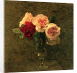 Still Life of Pink and Red Roses, 19th century by Ignace Henri Jean Fantin-Latour