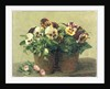 Still Life of Pansies and Daisies, 1889 by Ignace Henri Jean Fantin-Latour