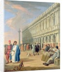 Venice: The Piazzetta with Figures, 18th century by Luca Carlevaris