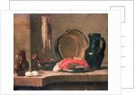 Still Life of Kitchen Utensils, 18th century by Jean-Baptiste Simeon Chardin