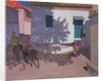 Green Door and Shadows, Lesbos by Andrew Macara
