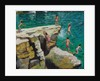 Detail of Jumping into the sea, Plates, Skiathos by Andrew Macara