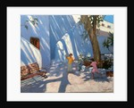 Two girls skipping, Mykonos by Andrew Macara