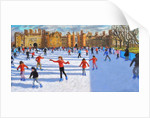 Girls in Red, Hampton Court Palace Ice Rink, London, 2018 by Andrew Macara