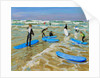 Blue surf boards, Bude by Andrew Macara