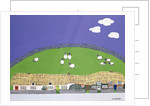 Sheep and clouds by Micaela Antohi