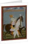 Rawat Bhim Singh of Salumbar riding Nur, 1820 by Indian School