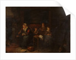 Domestic scene near a fireplace, c.1650-60 by Quiringh Gerritsz. van Brekelenkam