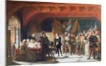 Francis de Bonnivard the Prisoner of Chillon, brought before the Duke of Savoy in 1530 by Jules Hippolyte Ravel
