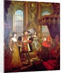 Henry VIII introducing Anne Boleyn at court by William Hogarth