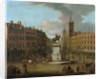 A View of Charing Cross and Northumberland House by Joseph Nickolls