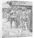 Endicott Cutting the Cross out of the English Flag by Howard Pyle