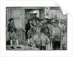 The Mob Attempting to Force a Stamp Officer to Resign by Howard Pyle
