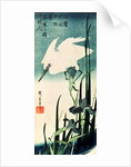 White Heron and Iris by Ando or Utagawa Hiroshige