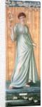 Girl with a Fan by Sir Edward Coley Burne-Jones
